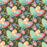Easter seamless pattern background design vector holiday celebration party wallpaper greeting colorful egg fabric Royalty Free Stock Photo