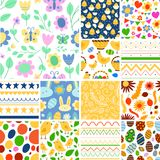 Easter seamless pattern background design vector holiday celebration party wallpaper greeting colorful egg fabric Royalty Free Stock Photography