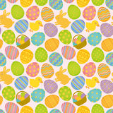 Easter seamless pattern. Stock Images
