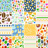Easter seamless pattern background retro vintage design vector. Stock Photos