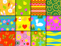 Easter seamless pattern background retro vintage design vector. Royalty Free Stock Photos