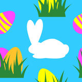 Easter seamless pattern background retro vintage design vector. Royalty Free Stock Photo