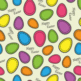 Easter seamless pattern. Cartoon seamless square background with colorful painted eggs Stock Photo