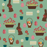 Easter seamless pattern. Royalty Free Stock Images