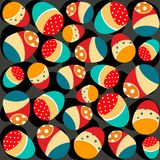 Eggs decorated seamless pattern - vector. Colorful Easter seamless pattern with decorated Easter eggs. Eps file available Royalty Free Stock Images