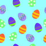 Easter seamless pattern with colorful eggs Royalty Free Stock Photography
