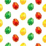 easter seamless pattern with colorful painted eggs, spring holidays,  for textile printing or background, wallpaper, ad, banner royalty free illustration