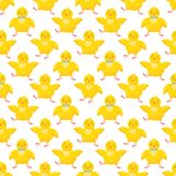 Easter seamless pattern. Cute little chicks.Easter holiday decorative background perfect for prints,flyers,banners,holiday invitations and more.Vector Easter Stock Photos