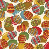 Easter seamless pattern with decorated eggs Stock Photography