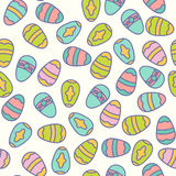 Easter seamless pattern design vector illustration. Line style eggs Royalty Free Stock Image