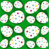Eggs decorated with multicolored polka dots - Seamless pattern - vector Royalty Free Stock Photography
