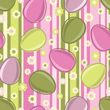Easter seamless pattern with eggs Stock Images