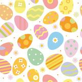 Easter seamless pattern with eggs Royalty Free Stock Image