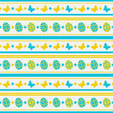 Easter seamless pattern with eggs and butterflies. Vector background. Stock Images
