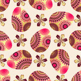 Easter seamless pattern with eggs Royalty Free Stock Photos