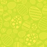 Easter Seamless Pattern With Eggs Decoratione On Yellow Background. Vector Illustration Royalty Free Stock Image