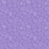 Easter seamless pattern, eggs with different ornament, on a purple background. 10 eps Royalty Free Stock Images