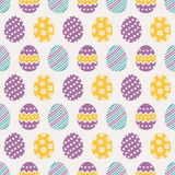 Easter seamless pattern with eggs. Vector background. Stock Images