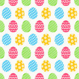 Easter seamless pattern with eggs. Vector background. Stock Photography
