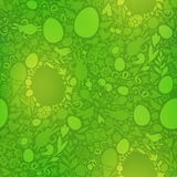 Easter Seamless Pattern in Green Colors Stock Image