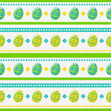 Easter seamless pattern with painted eggs. Vector background. Happy Easter! Seamless striped pattern with painted eggs. Vector background Stock Photography