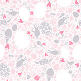 Easter Seamless Pattern in Pastel Shades Stock Image