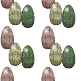 Easter seamless pattern with reptilian eggs texture Royalty Free Stock Photography