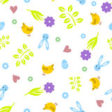 Easter seamless pattern retro vintage design party holiday celebration wallpaper and greeting colorful fabric textile Royalty Free Stock Photo