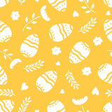 Easter seamless pattern retro vintage design party holiday celebration wallpaper and greeting colorful fabric textile Stock Images