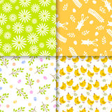 Easter seamless pattern retro vintage design party holiday celebration wallpaper and greeting colorful fabric textile Stock Photo