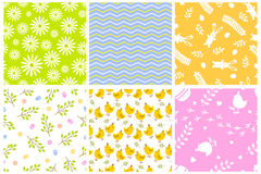 Easter seamless pattern retro vintage design party holiday celebration wallpaper and greeting colorful fabric textile Royalty Free Stock Photos
