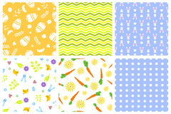 Easter seamless pattern retro vintage design party holiday celebration wallpaper and greeting colorful fabric textile Stock Photography