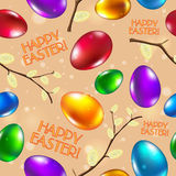 Easter seamless pattern vector beige. Happy easter Royalty Free Stock Photography