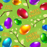 Easter seamless pattern vector green. Happy easter Royalty Free Stock Image