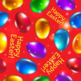 Easter seamless pattern vector red. Happy easter. Stock Photo
