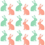 Easter Seamless Pattern With Cute Rabbits Royalty Free Stock Photography