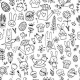 Easter, seamless pattern for your design. Vector illustration Royalty Free Stock Photo