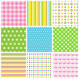 Easter seamless patterns Royalty Free Stock Photos