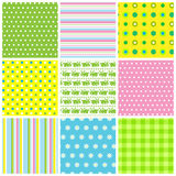 Easter seamless patterns Royalty Free Stock Images