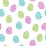 Easter Seamless Patterns. Vector seamless pattern on Easter theme whitj eggs. Easter Spring background with eggs colorful. Pattern for scrapbook and wraping Stock Photography