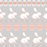 Background for Happy Easter Day. Easter seamless vector texture. Cute rabbits, eggs and carrots pattern.. Background for Happy Easter Day. Easter seamless Stock Photo
