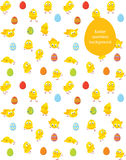 Easter seamless vector pattern, chicks and eggs Royalty Free Stock Photo