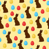 Easter seamless vector pattern Royalty Free Stock Photos