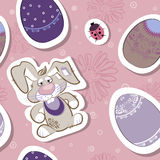 Easter seamless vector pattern Royalty Free Stock Images