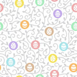 Easter seamless vector pattern. Flat design. Stock Image