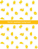 Easter seamless vector pattern with funny chicks Stock Image
