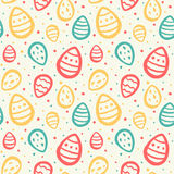 Easter seamless vector pattern with painted eggs Royalty Free Stock Images