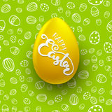 Easter seamless vector pattern with white egg. Holiday background Royalty Free Stock Photos