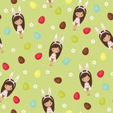 Easter seamless wallpaper Royalty Free Stock Photos
