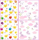 Easter seamless wrappers Royalty Free Stock Images